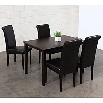 Superbe Amazon.com   Warehouse Of Tiffany 5 Piece Black Dining Furniture Set   Table  U0026 Chair Sets