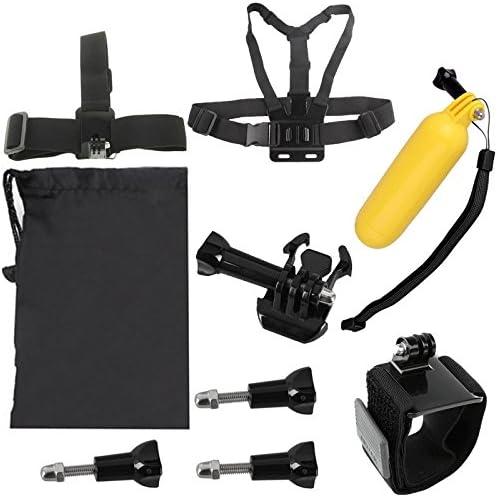 Head Strap CAOMING YKD-105 9 in 1 Chest Belt Carry Bag Floating Bobber Monopod Screws Set for GoPro HERO4 //3+ //3//2 //1 //SJ4000 Durable Wrist Belt