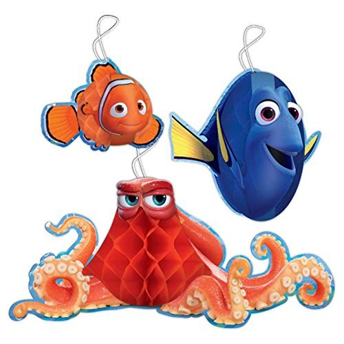 Finding Dory honeycomb Decoration 3 Pack ()