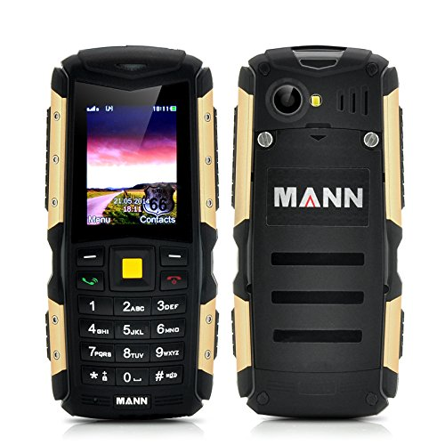 wholesale dealer 87cb0 4ffa0 Mann Dual SIM Rugged Waterproof, Dustproof, Shockproof Mobile, Cell Phone,  Bluetooth - Battery Size: 2570mAh, Continuous Talk time 16 Hours