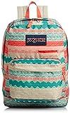 JanSport Unisex Digibreak Malt Tan Boho Stripe Backpack