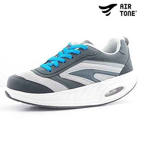 Apolyne Vivifiant Sneaker Ton Air, Adulte Unisexe Blanc / Gris