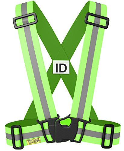 Visibility Vest - Reflective Vest for High Visibility All Day and Night with Emergency Identification Label. For Running, Cycling, Jogging, Dog-Walking, Car Safety, Highway Emergencies, Motorcycling and Horse Riding