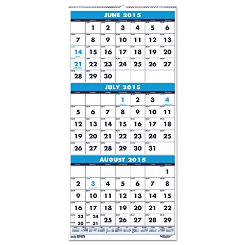 "House of Doolittle 2016 - 2017 Three-Month Academic Wall Calendar, 8 x 17"", (HOD3645-17)"