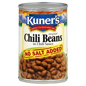 Kuners Bean Chili No Salt, 15 oz