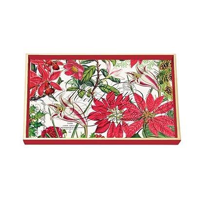 Vacaciones Navidad colecciones Decoupage madera bandeja de tocador de FND promoción por Michel Design Works