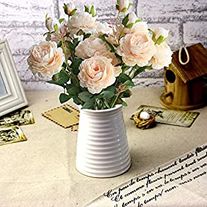 """Lemax 24"""" Long Artificial Peony Silk Peony Bouquets Fake Flowers Wedding Home Decoration,Pack of 3 2"""