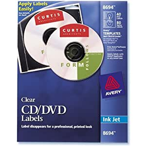 cd labels and inserts avery 8965 cd dvd design kit matte white 40