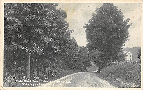 Mountain Barrel - On the Road to Barrel Mountain Showing Lawrence House White Sulphur Springs, New York, Postcard