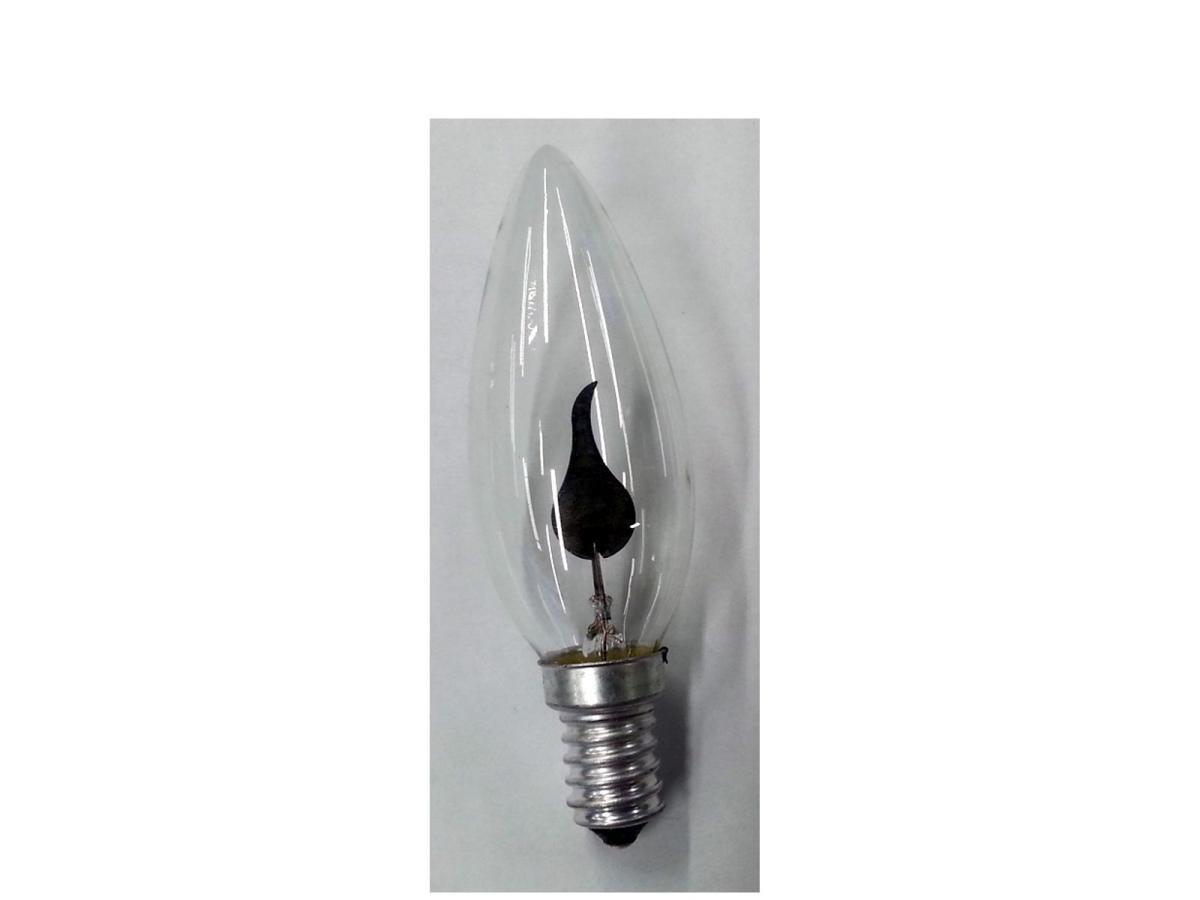 LAMPADA OLIVA TREMULA E14 3W VOTIVA CANDELA OSCILLANTE 32 X 95 mm