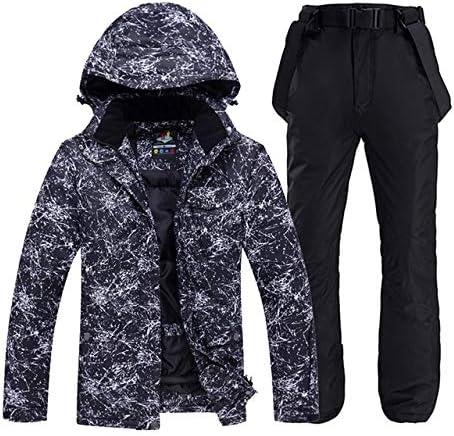 LilyAngel メンズや女性のスノーウェアスノーボードは防水防風透湿性アウトドアスポーツスキースーツのジャケットとベルトパンツを設定します。 (色 : 14, サイズ : M)