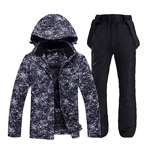 LilyAngel メンズや女性のスノーウェアスノーボードは防水防風透湿性アウトドアスポーツスキースーツのジャケットとベルトパンツを設定します。 (色 : 14, サイズ : XXXL)