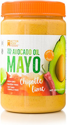(BetterBody Foods Avocado Oil Mayonnaise with Chipotle Lime Avocado Oil Mayo with Chipotle Lime made with 100% Avocado Oil Non-GMO Cage-Free Eggs Soy & Canola Free Paleo)