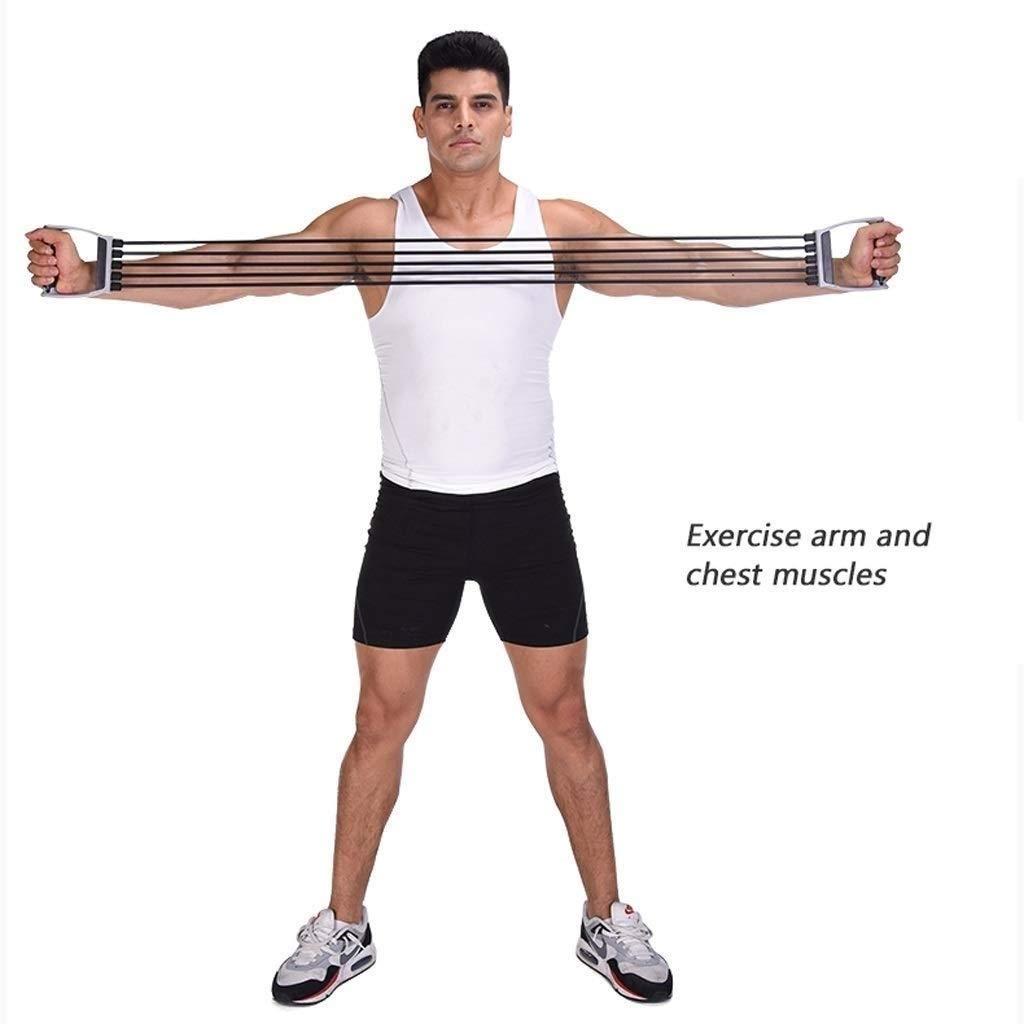 Chest Expander 5 Spring Handgreifer Klimmzugstangen Home Fitness Muskel Einstellbare Training Gym Trainingsger/äte