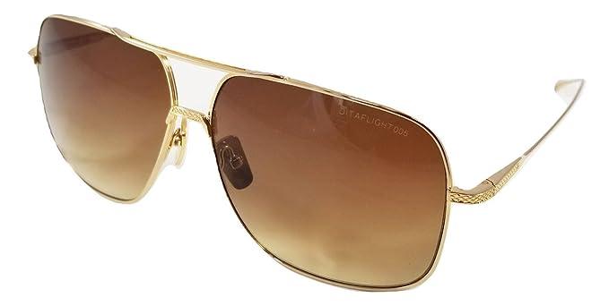 Dita FLIGHT 005 Gafas de sol en montura Aviator dorada con ...