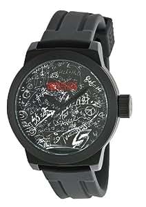 Kenneth Cole RK1250 - Reloj analógico de cuarzo para hombre con correa de silicona, color negro