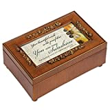 Cottage Garden You Are My Sunshine Rich Walnut Finish Jewelry Music Box - Plays Song You are my Sunshine