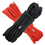 All Purpose Rope 10M - 32 Feet Length, Strong Multifunctional Soft 100% Nylon Rope Natural Twisted Durable Long for Sports,Indoor Outdoor Use,Camping