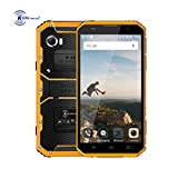 cellphone 3g 900 mhz - Kenxinda W9 Unlocked Rugged Smartphone 6.0 Inches HD Screen Military Grade IP68 Waterproof Octa-Core Processor 16GB Memory 4000mAh Cellphones (Yellow)