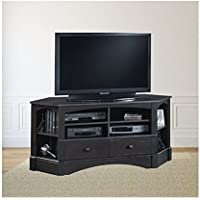Trent Home Sea Horizon 61 Corner TV Stand in Antique Black