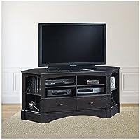 Trent Home Sea Horizon 61 Corner TV Stand in Antique Black
