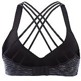 Cheap V FOR CITY Womens Running Sports Bra Yoga Workout Sports Bra Medium impack Workout Sports Bra Size M