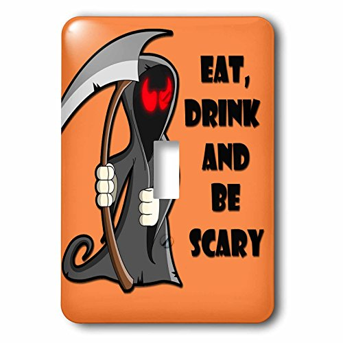 3dRose lsp_218445_1 Eat, Drink And Be Scary Halloween Funny Quotes Popular Saying Single Toggle -