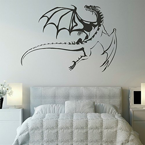 Black Flying Dragon Wall Decal - 30