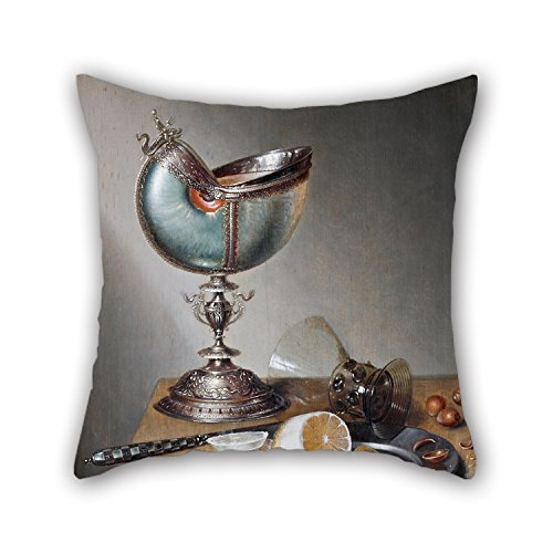 Uloveme Throw Pillow Covers 18 X 18 Inches / 45 By 45 Cm(2 Sides) Nice Choice For Play Room,christmas,deck Chair,car,shop,floor Oil Painting Marten Boelema De Stomme - Still-Life With Nautilus Cup