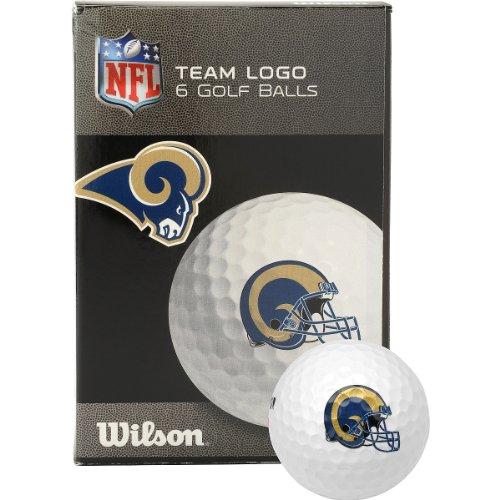 Louis Golf Bag St Rams (Wilson St. Louis Rams Golf Balls - 6-pack White)