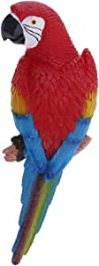 Lying Blue 29cm D DOLITY 20 Style Imitation Animal Resin Large Parrot Bird Statue Yard Tree Lawn Ornament Hanging Sculpture Decoration Garden Craft