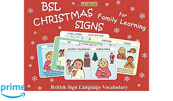 BSL Christmas Signs Flashcards (Lets Sign)
