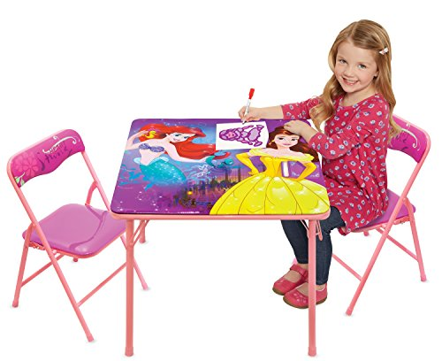 Disney Princess Heart Strong Activity Table Play Set with Two Chairs