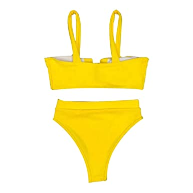 WEIWEITOE-ES Bikini 9123 de Cintura Alta para Mujer ...