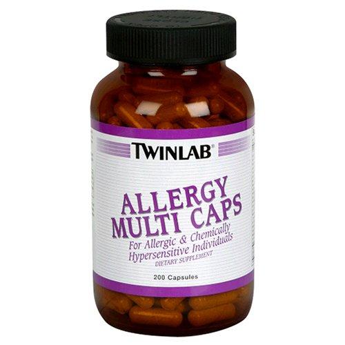 Twinlab Allergy Multi Caps, 200 Capsules (Pack of 2)