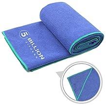 5BILLION Microfiber Yoga Towel for Yoga Mat - 61cm x 183cm - Hot Yoga Towel, Bikram Yoga Towel, Ashtanga Yoga Towel - Non Slip, Super Absorbent, Machine Washable, Fast Drying - Free Carry Bag