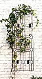 H Potter Outdoor Metal Wall Decor or Trellis for Climbing Plants Art Garden Panel Roses Vines Privacy Includes Brackets for Hanging GAR258W1