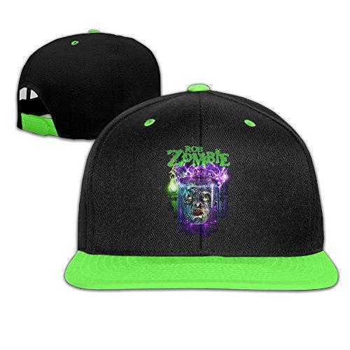 (Harriy Rob Zombi Boys UV Protect Baseball Cap Snapback Hat KellyGreen)