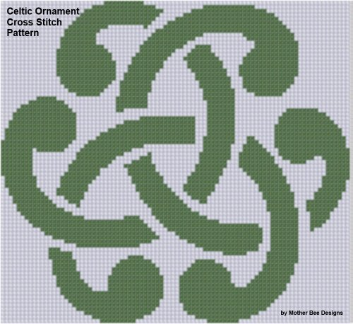 Celtic Ornament Cross Stitch Pattern Celtic Cross Stitch Pattern