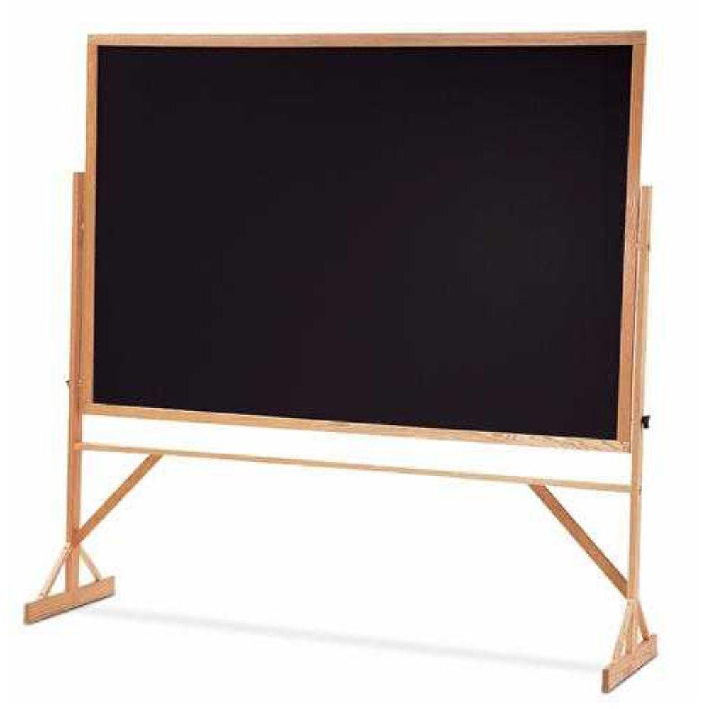 QUARTET MFG WTR406810 Reversible Chalkboard w/Hardwood Frame, 48 x 72