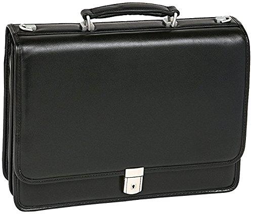 42 cm Black McKlein Bucktown 15.6 Double Compartment Briefcase