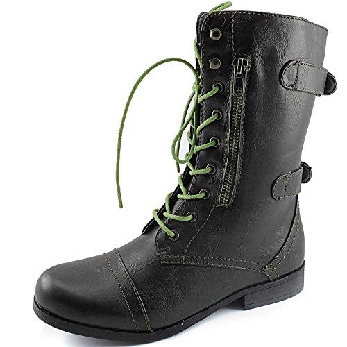 Womens Dailyshoes Evan-10 Stivali Da Combattimento Militari Con Cinturino Alla Caviglia, 8.5 B (m) Us