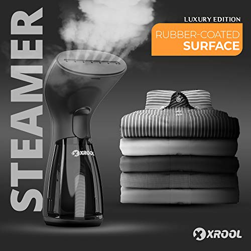 XROOL Mini Travel Steamer for Clothes – Portable Fabric Steam Iron – Handheld Garment