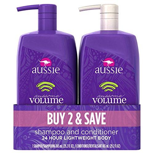 Aussie Aussome Volume Shampoo and Conditioner Bundle, 29.2 fl oz Each