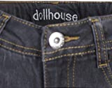 dollhouse Girl's Denim Jeans with Lace-up Bottoms