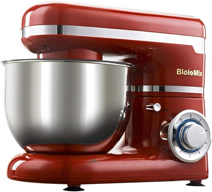 Mezclador versátil del soporte 1200W 4L tazón de fuente de acero inoxidable 6-Speed cocina soporte de alimentos mezclador de crema de huevo batidor batidora torta masa pan mezclador Maker máquina: Amazon.es: Hogar