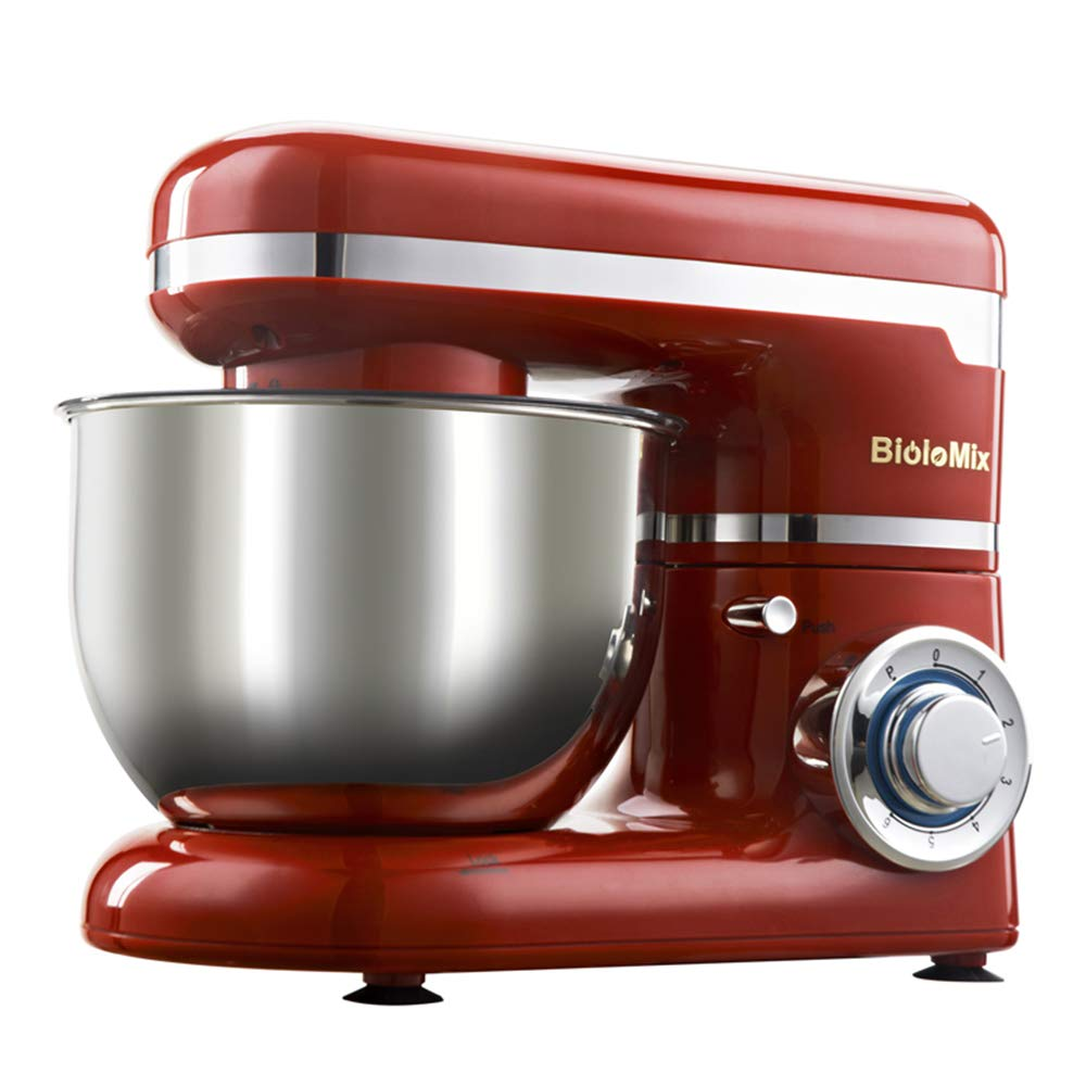 DOLPHINEGG Versatile Stand Mixer 1200W 4L Stainless Steel Bowl 6-Speed Kitchen Food Stand Mixer Cream Egg Whisk Blender Cake Dough Bread Mixer Maker Machine