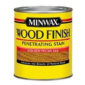 Minwax 224504444  Wood Finish Penetrating Interior Wood Stain, 1/2 pint, Golden Pecan
