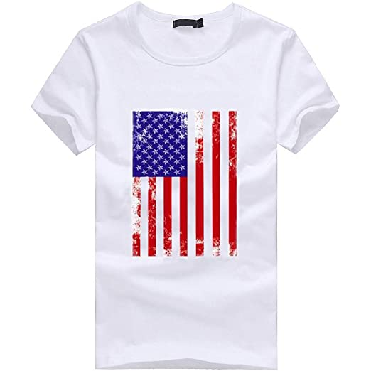 520ddf6d8 Ninasill Men's Exclusive Striped Star Flag Print Patriotic T-Shirt Large  Size Summer Tops Casual Tank Tops: Clothing