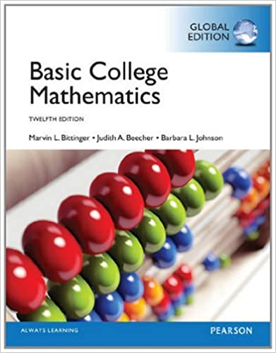 Basic College Mathematics, Global Edition by Marvin L. Bittinger (2014-06-12)
